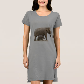 Wild Elephants Women's T-Shirt Dress/Nightie