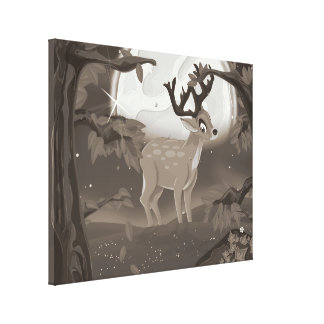 Wild Elk Canvas Print