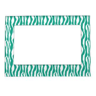 Wild Emerald Zebra Print Magnetic Photo Frame