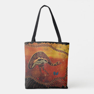 Wild Emu Aboriginal Tote Bag