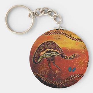 Wild Emu Dreaming Basic Round Button Keychain