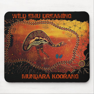 Wild Emu Dreaming Mouse Pad