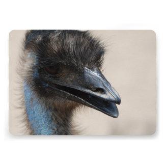 Wild Emu Custom Invitation