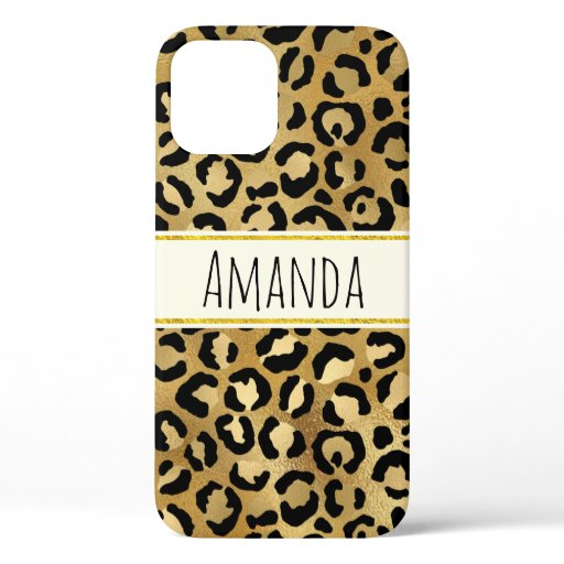 Wild & Exotic Leopard Print Pattern iPhone 12 Case