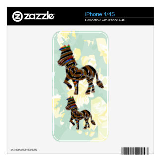 Wild Exotic Zebra - NOVINO Art101 Graphics Skin For The iPhone 4