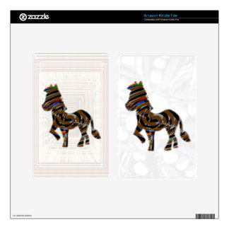 Wild Exotic Zebra - NOVINO Art101 Graphics Skin For Kindle Fire