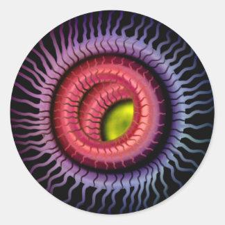 Wild Eye -  Gold Pupil,  Red Iris Classic Round Sticker