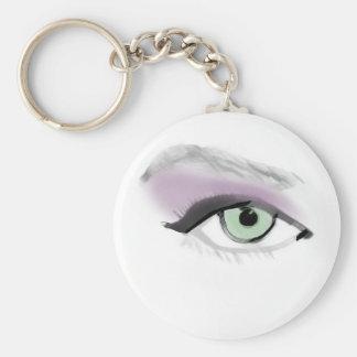 Wild Eyes Brush Strokes Keychain