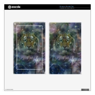 Wild Eyes Tiger Crouching Beautiful Decal For Kindle Fire