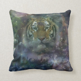 Wild Eyes Tiger Crouching Beautiful Throw Pillow