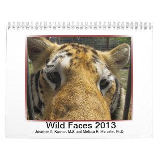 Wild Faces 2013 Calendar
