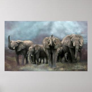 Wild Family Art Poster/Print Poster