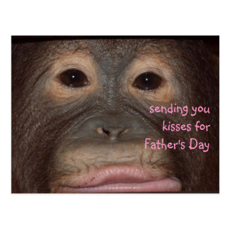 Wild Father s Day Kisses Postcard