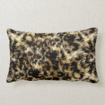 Wild Faux Fur Leopard Style Camo Print Throw Pillow