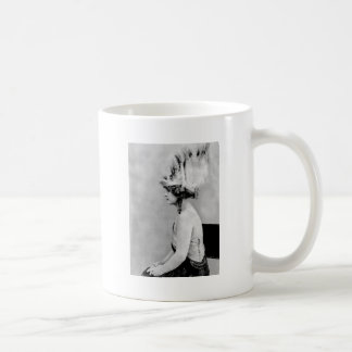 Wild Feather Hat, early 1900s Coffee Mug
