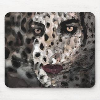 wild feline mouse pad