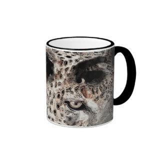 wild feline ringer coffee mug