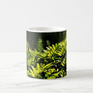 Wild Fern Abstract Coffee Mug