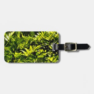 Wild Fern Abstract Luggage Tag
