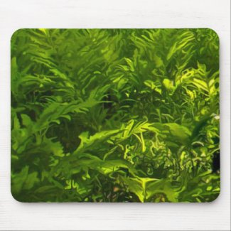 Wild Fern Abstract Mousepad
