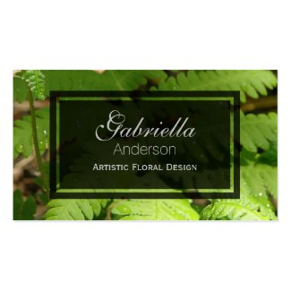 Wild Fern Nature Business Cards
