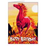 Wild Fire Horse Card