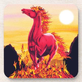 Wild Fire Horse Cork Coaster