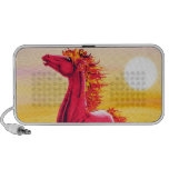 Wild Fire Horse Doodle Laptop Speaker