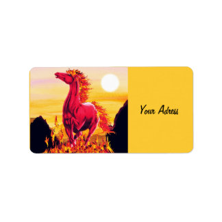 Wild Fire Horse Label