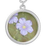 Wild Flax Flowers 2 Custom Necklace