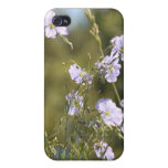 Wild Flax Flowers Cases For iPhone 4