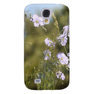 Wild Flax Flowers Samsung S4 Case