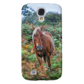 Wild Flaxen-maned New Forest Pony & Bracken UK Samsung Galaxy S4 Case