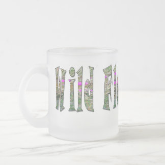 Wild Flower Child - Glass Frosted Glass Coffee Mug