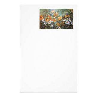 """Wild Flower Field"" Floral Stationery"