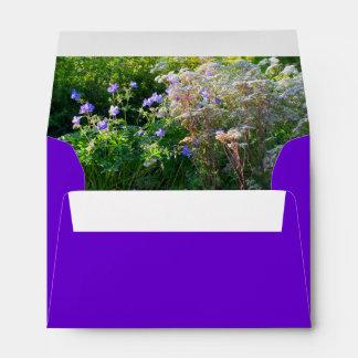 Wild flower field purple envelope