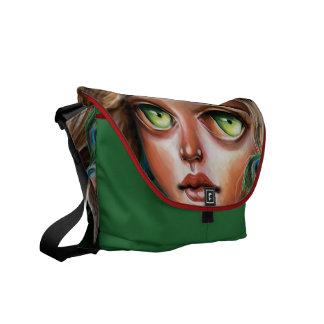 Wild Flower Forest Nymph Pop Surrealism Bag Courier Bag