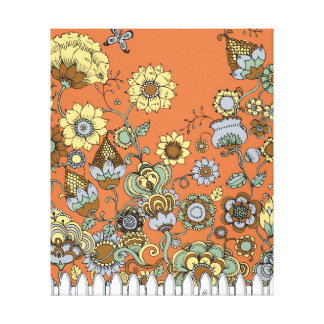 Wild Flower Garden in fall colors Canvas Print