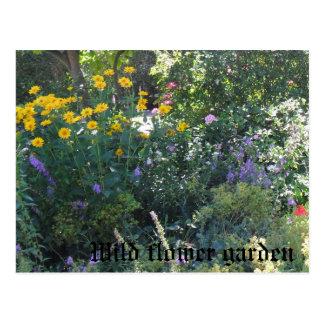 Wild flower garden postcard