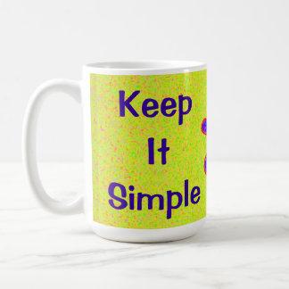 Wild Flower Keep It Simple Coffee Mug