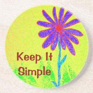 Wild Flower Keep It Simple Drink Coasters