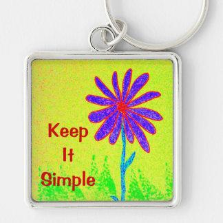 Wild Flower Keep It Simple Keychain