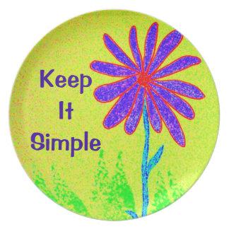 Wild Flower Keep It Simple Plate