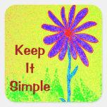 Wild Flower Keep It Simple Square Sticker