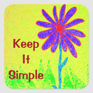 Wild Flower Keep It Simple Square Sticker