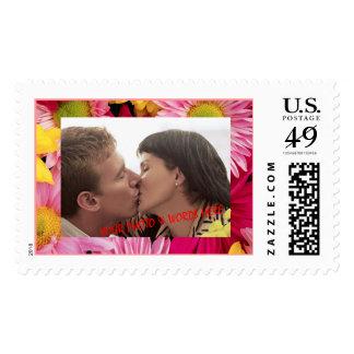 Wild Flower Mat Photo Frame (1) Postage Stamp