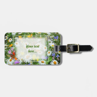 Wild Flower Meadow Bag Tag