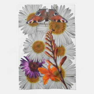 wild flower pattern kitchen towel
