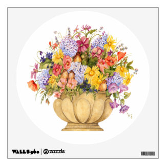 Wild flowers and birds Wall Decals