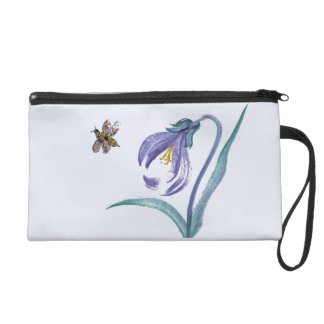 Wild Flowers and insects, Sumi-e Wristlet
